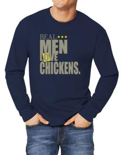 Real Men Love Chickens Long-sleeve T-Shirt