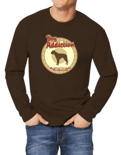 Dog Addiction : American Bulldog Long-sleeve T-Shirt