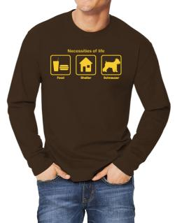 Necessities of life - Schnauzer Long-sleeve T-Shirt