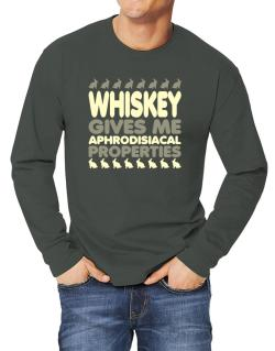 Whiskey Gives Me Aphrodisiacal Properties Long-sleeve T-Shirt