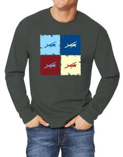 """ Aerobatics - Pop art "" Long-sleeve T-Shirt"