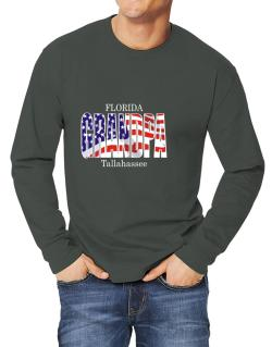 Grandpa Tallahassee - Us Flag Long-sleeve T-Shirt