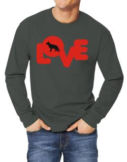 Love Silhouette German Shepherd Long-sleeve T-Shirt