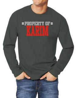 """ Property of Karim "" Long-sleeve T-Shirt"