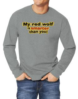My Red Wolf Is Smarter Than You! Long-sleeve T-Shirt