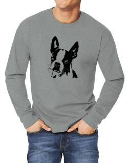 Boston Terrier Face Special Graphic Long-sleeve T-Shirt