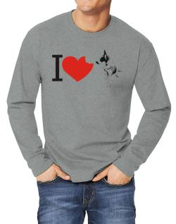 I love Australian Cattle Dogs Long-sleeve T-Shirt
