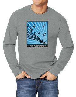 Delta Blues - Musical Notes Long-sleeve T-Shirt