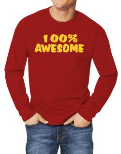 100% Awesome Long-sleeve T-Shirt