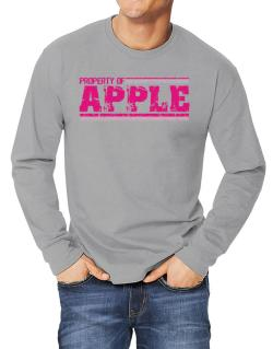 Property Of Apple - Vintage Long-sleeve T-Shirt