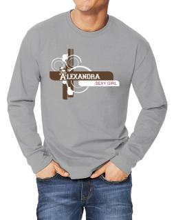Alexandra - Sexy Girl Long-sleeve T-Shirt