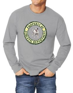 """ PROPERTY OF American Bulldog ATHLETIC DEPARTMENT TRANSFER "" Long-sleeve T-Shirt"