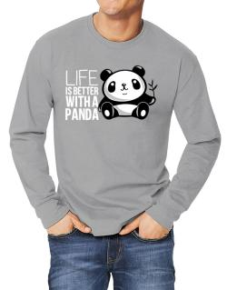 Polo Manga Larga de Life is better with a panda