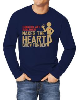 Chocolate Soldier Makes The Heart Grow Fonder Long-sleeve T-Shirt