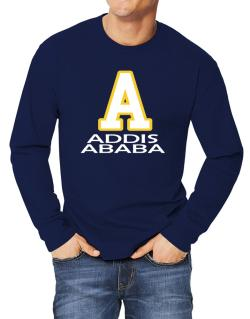 """ Addis Ababa - Initial "" Long-sleeve T-Shirt"