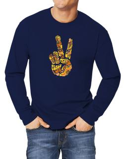 Peace Sign - Hand Collage Long-sleeve T-Shirt