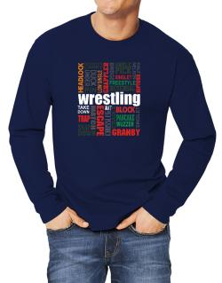 Wrestling Words Long-sleeve T-Shirt