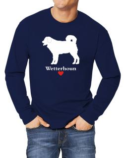 Wetterhoun love Long-sleeve T-Shirt