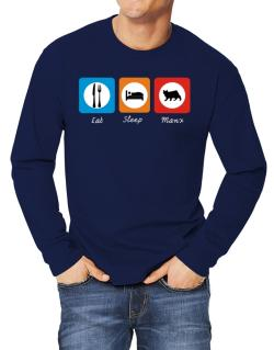 Eat sleep Manx Long-sleeve T-Shirt