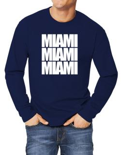 Miami three words Long-sleeve T-Shirt