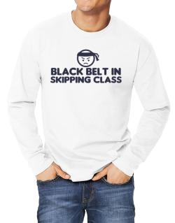 Black Belt In Skipping Class Long-sleeve T-Shirt