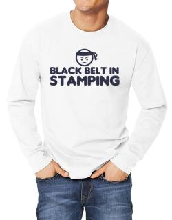 Black Belt In Stamping Long-sleeve T-Shirt