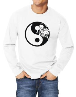 Yin Yang Leo Long-sleeve T-Shirt