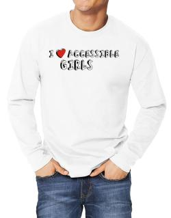 I Love Accessible Girls Long-sleeve T-Shirt