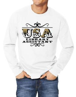 Usa Library Assistant Long-sleeve T-Shirt
