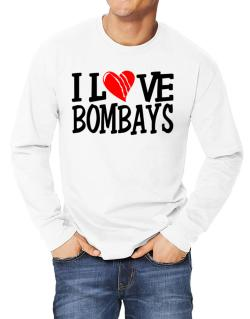 I Love Bombays - Scratched Heart Long-sleeve T-Shirt