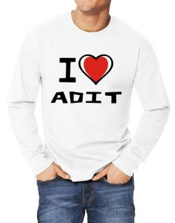 I Love Adit Long-sleeve T-Shirt