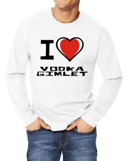 I Love Vodka Gimlet Long-sleeve T-Shirt