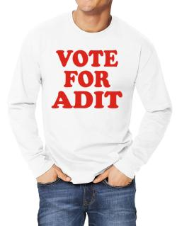 Vote For Adit Long-sleeve T-Shirt