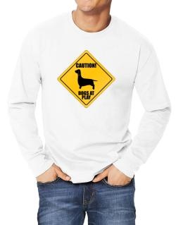 """ Dogs at play Dachshund ""  Long-sleeve T-Shirt"