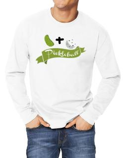 Pickle plus ball equals pickleball Long-sleeve T-Shirt