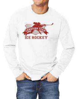 Polo Manga Larga de Canadian team ice hockey Canada