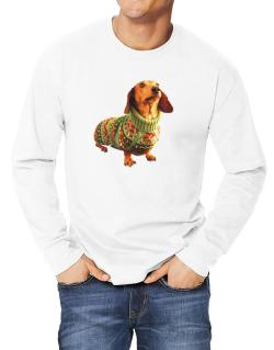 Dachshund christmas sweater Long-sleeve T-Shirt