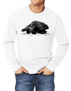 American Porcupine sketch Long-sleeve T-Shirt