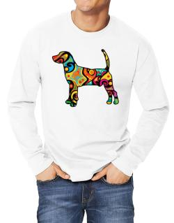Psychedelic North Country Beagle Long-sleeve T-Shirt