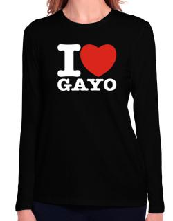 I Love Gayo Long Sleeve T-Shirt-Womens