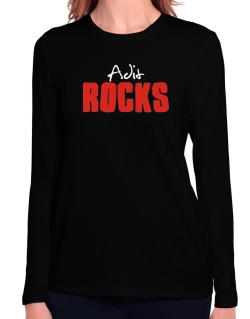 Adit Rocks Long Sleeve T-Shirt-Womens