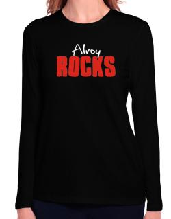 Alroy Rocks Long Sleeve T-Shirt-Womens