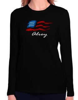 Alroy - Us Flag Long Sleeve T-Shirt-Womens