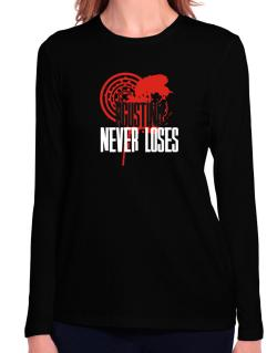 Agustino Never Loses Long Sleeve T-Shirt-Womens