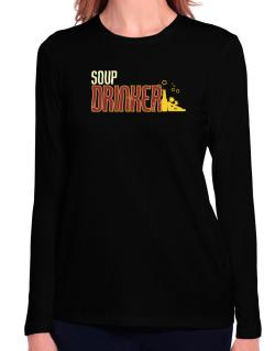 Soup Drinker Long Sleeve T-Shirt-Womens