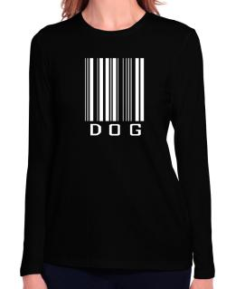 Dog Barcode / Bar Code Long Sleeve T-Shirt-Womens