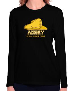 Angry Is My Middle Name Long Sleeve T-Shirt-Womens