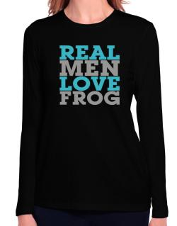 Real Men Love Frog Long Sleeve T-Shirt-Womens