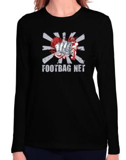 Footbag Net Fist Long Sleeve T-Shirt-Womens