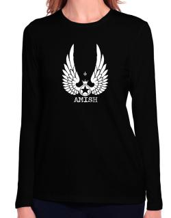 Amish - Wings Long Sleeve T-Shirt-Womens